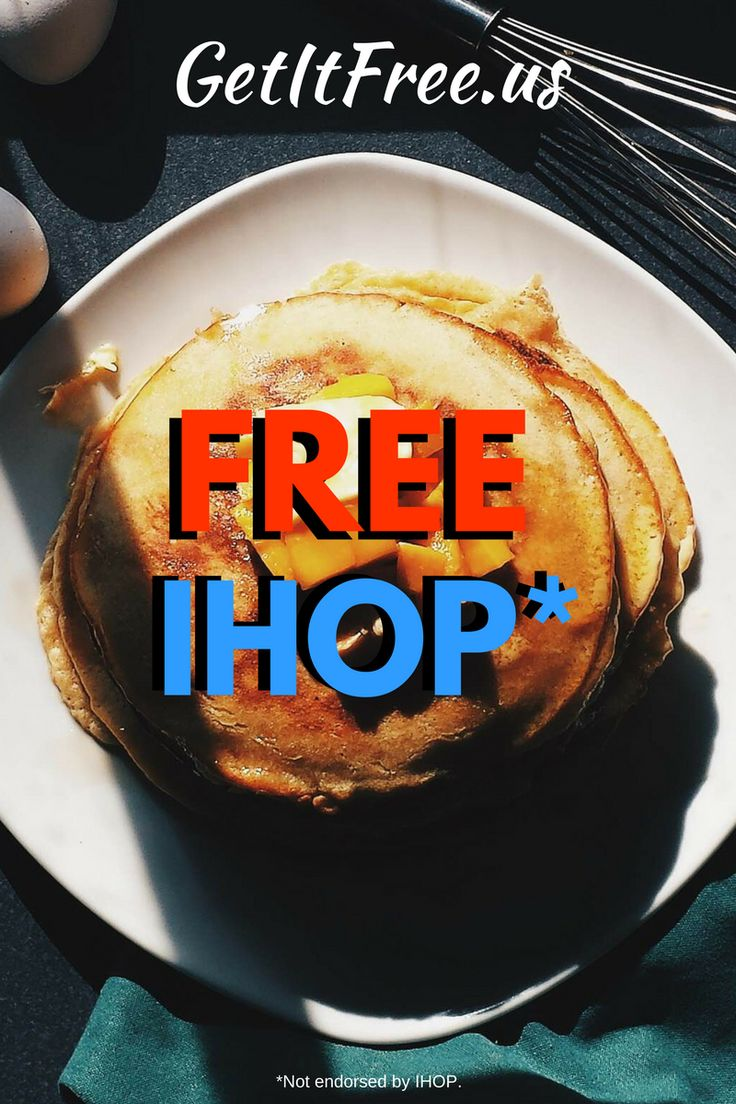 These hot and delicious IHOP pancakes are free (as in FREE). Redeem them by clicking on the image!