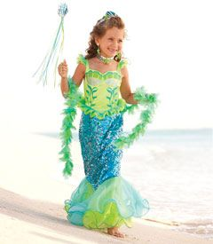 blue fairytale mermaid girls costume - Only at Chasing Fireflies - Transform into a spectacular mermaid with this fairy-tale costume.: