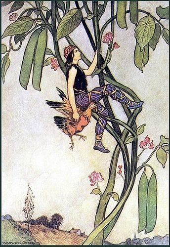 "indigodreams: """"Jack and the Beanstalk"" Warwick Goble illustrator """