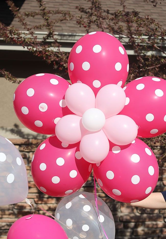 flower balloons how cool are these?!: