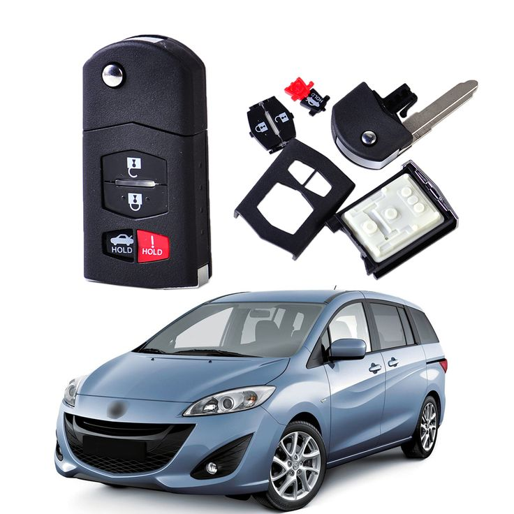 DWCX 4 Button Folding Flip Remote Keyless Key Shell Cover Case Fob Housing for Mazda 3 6 MX-5 Miata 2010 2011 2012 #Affiliate