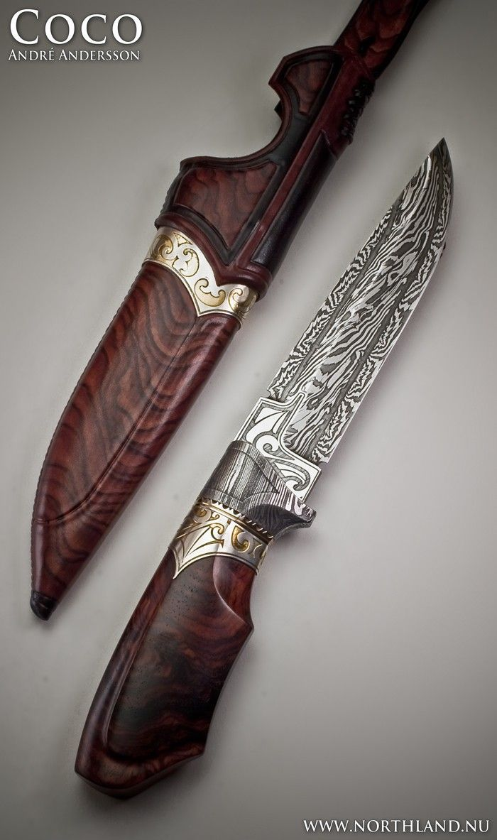 """Image via  This is from Van Barnett's Art Knife Invitational, so this isn't exactly functional. But how cool is this?!   Image via  beautiful #Viking #Celticknife   Image via  """"The Cust"""