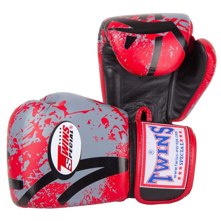 Twins Special Leather Muay Thai Boxing Gloves - Red Rising