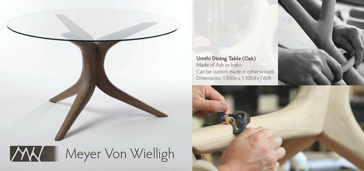 Umthi Dining Table - Meyer von Wielligh #table #dining #glassdesign #furniture #wood
