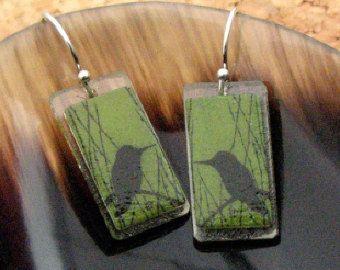 Humbird Green Earrings