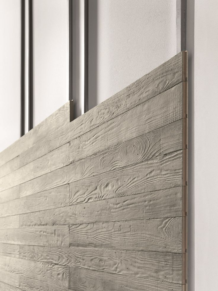 Planking concrete wall tiles with wood effect CIMENTO® TAVOLATO   Cement door panel by Sai Industry srl