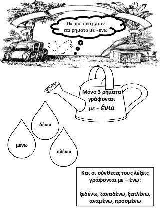 Ο κηπος της γραμματικης (ρήματα σε - αίνω και σε - ίζω)