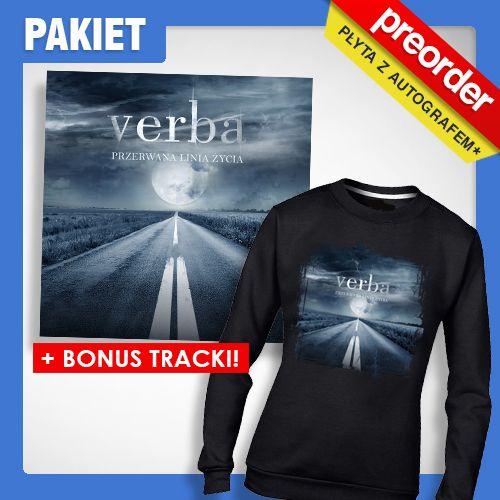 (PREORDER) PAKIET Verba Bluza DAMSKA + CD - Przerwana Linia Życia ( BONUS TRACK)