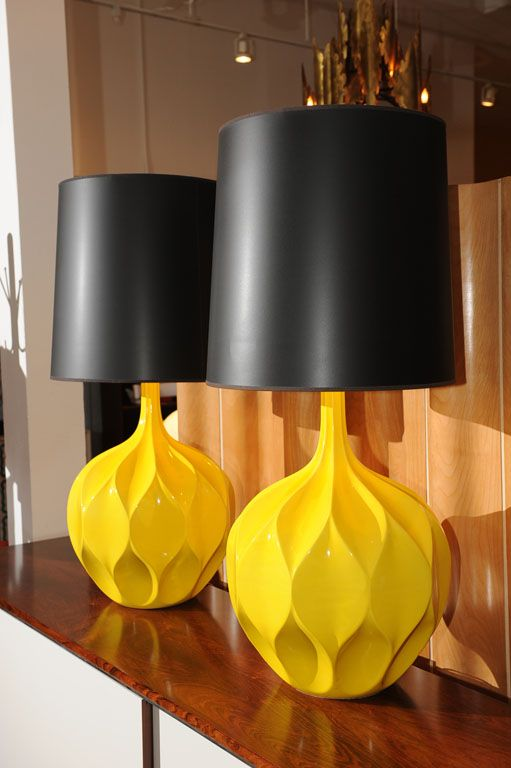 Gorgeous Yellow Lamps
