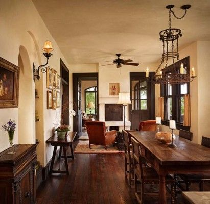 Exquisite Spanish Colonial Revival House Restoration In Texas. Dark Wood  TrimDark ... Part 76