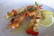 Broiled Shrimp and Scallops   (Scampi e Capesante alla Griglia)