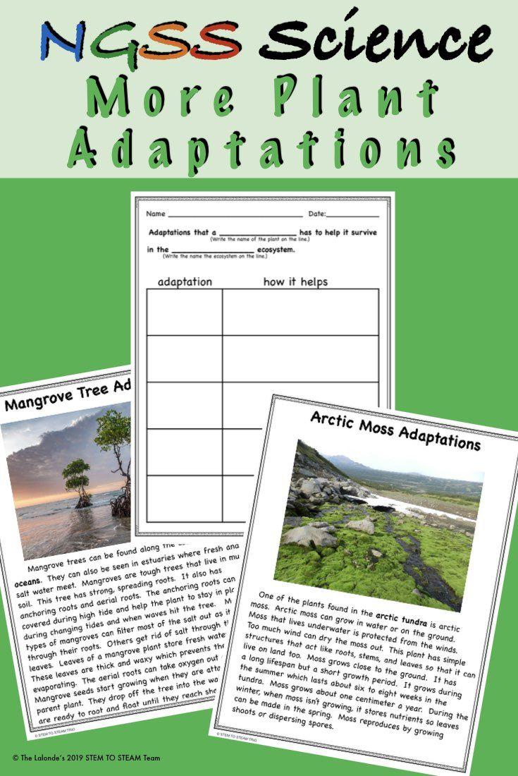 Plant Adaptations Informational Reading Passages And Activities 2 Informational Reading Passages Reading Passages Informational Reading
