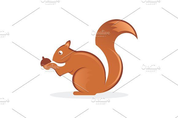 Squirrel with nut by SuperAccurate on @creativemarket