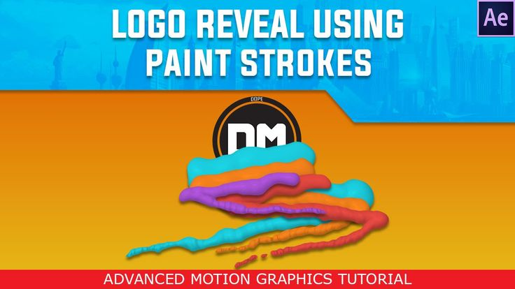 PAINT STROKE LOGO REVEAL (Motion Graphics) / By: Dope Motions™