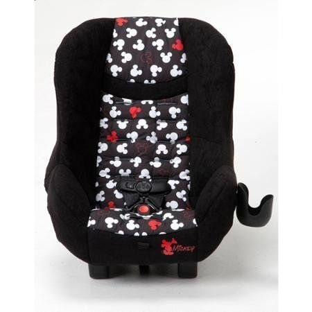 """CoscoScenera (Pop Up Mickey) NEXT Convertible Car Seat is Simply a Smarter Car Seat - Designed For Families Who Know What They Need. Cosco car seat fits 3 across in the back seat of most vehicles Rear-facing: 5-40 lbs (19"""" to 40""""). Forward-facing: 22-40 lbs (29"""" to 43"""") and at least 2 years old Side impact protection. NEXT lightweight car seat has a 5-point harness with easy front adjustment 5 harness heights and 3 buckle locations allow for the best fit for growing children Seat pad is..."""