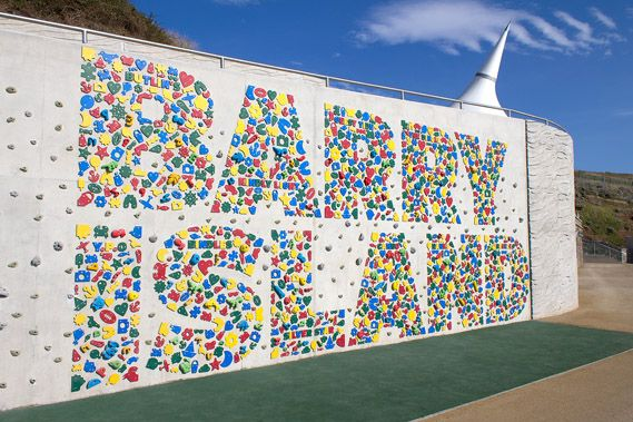 Barry Island's typographic climbing wall. #typography #wall #climbing