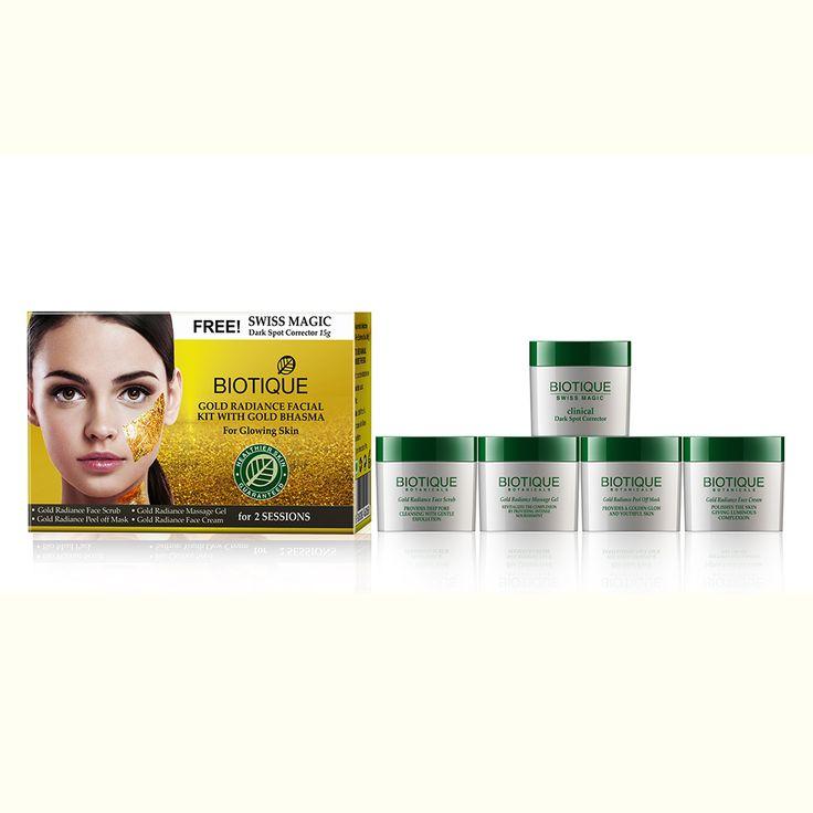 Biotique Bio Gold Radiance Facial Kit with Gold Bhasma 75G Kit