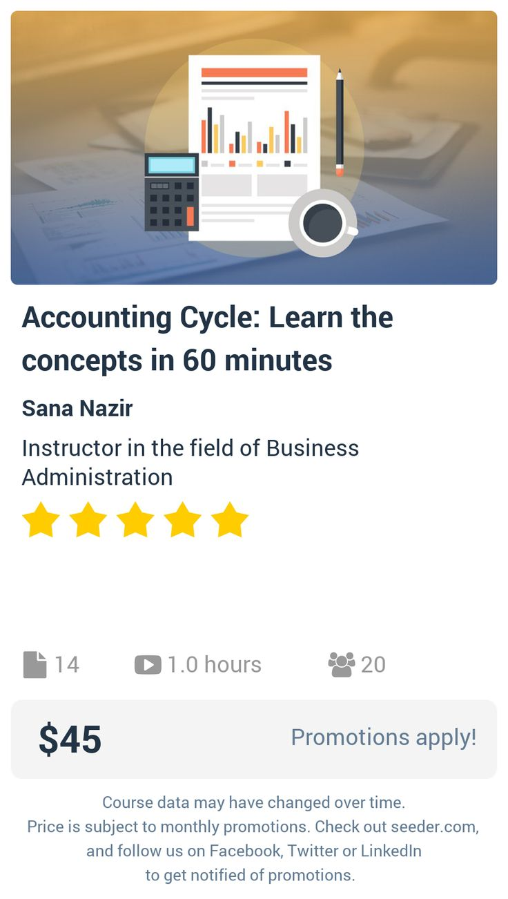 best ideas about the accounting cycle accounting accounting cycle learn the concepts in 60 minutes seeder offers perhaps the most dense collection of high quality online courses on the internet
