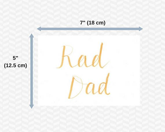 Fathers day cards  Digital  Printable cards  Brush