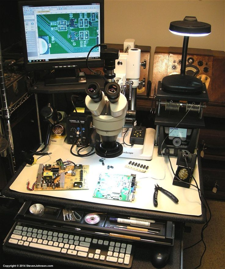 Diy Electronics Repair Workbench : Esd smd soldering station diy electronic workbench