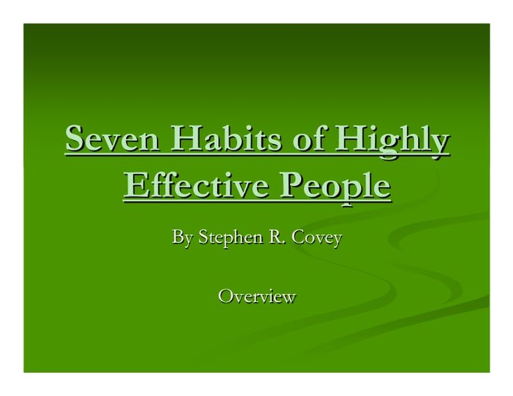 seven secrets of highly effective people pdf