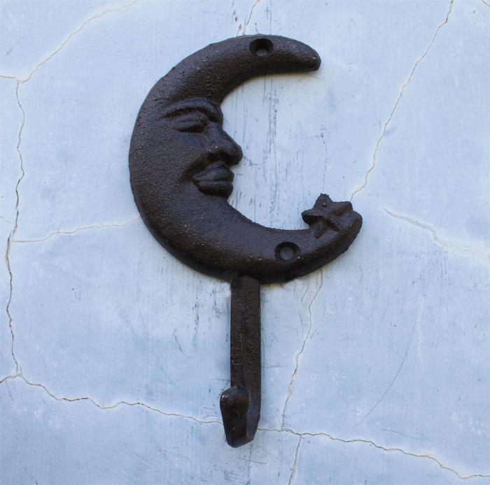 1 Piece Wrought Iron Coat Hooks/ Decorative Wall Hook With 1 Hook/ Iron Coat  Hooks With Moon Pattern/ Wall Decoration