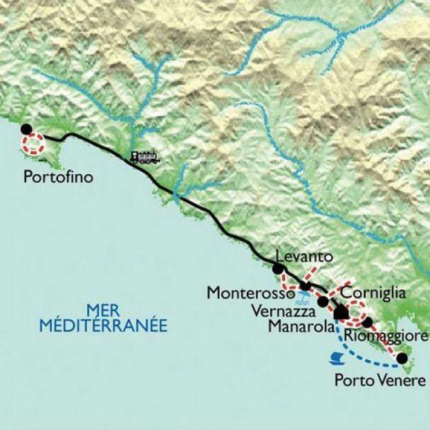 Carte Cinque Terre Entre Ciel Et Mer 5 Jours Trekking Trekking