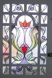 edwardian front door glass