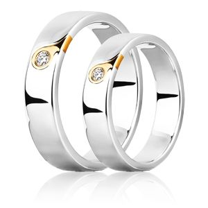 Парные обручальные кольца из белого золота http://www.evora.ru/items/kolco-s-brilliantom-iz-belogo-zolota-131315