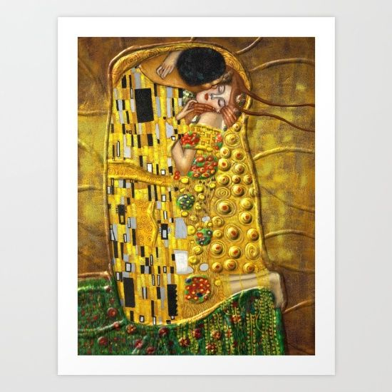 Buy My Klimt Art Print by Müge Başak. Worldwide shipping available at Society6.com. Just one of millions of high quality products available.