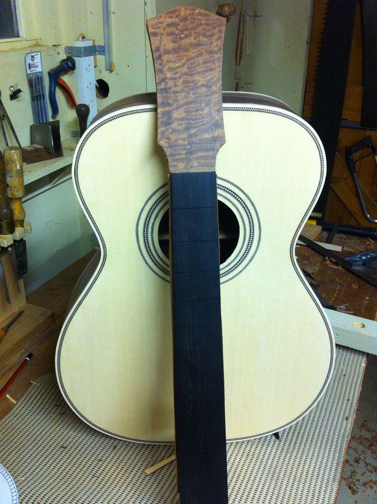 OM steel string. Almost finished.  Domenic Roscioli Guitars.