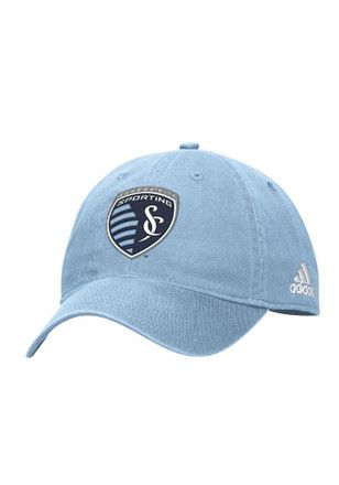 Adidas Sporting Kansas City Mens Light Blue Basic Slouch Adjustable Hat