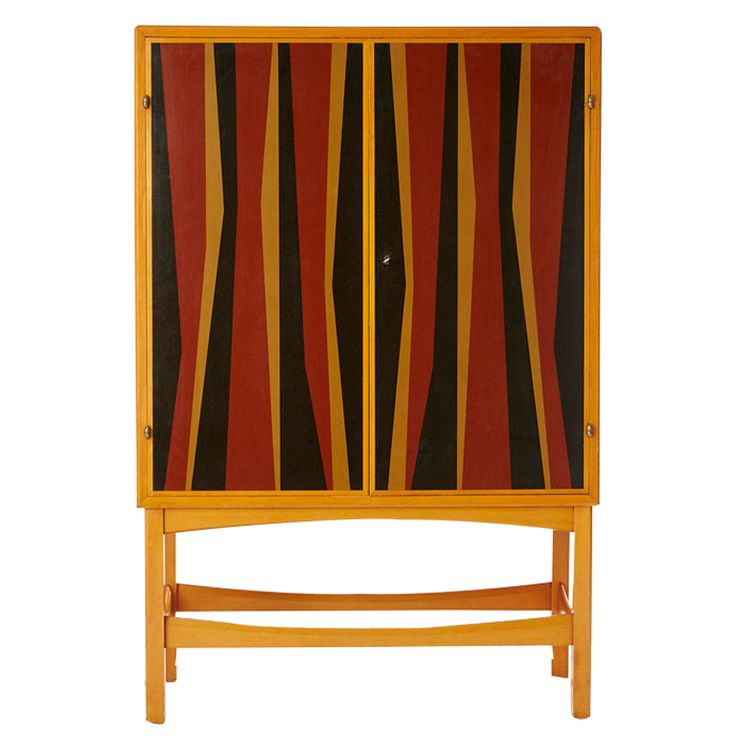 Exquisite Highly Unusual Rare Modernist Scandinavian Cabinet ca.1950's