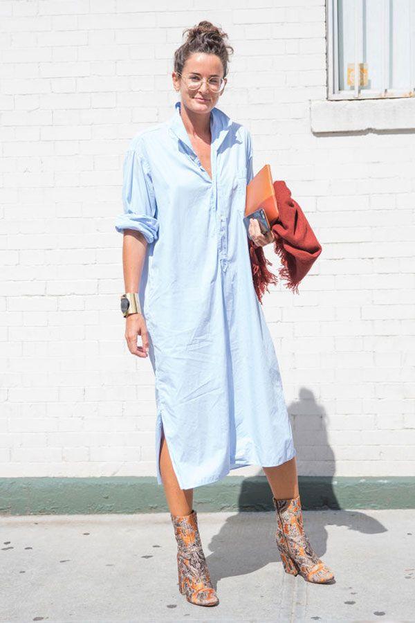 look chemise azul                                                                                                                                                                                 Mais