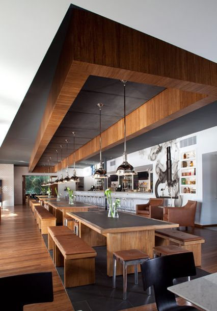 Mirroring Floor and #Ceiling Can Add Space- You don't need a massive #dining space to borrow the luxurious features in this image. One feature to note is how the table style is reflected in the ceiling; this neat trick can be used with other table styles.