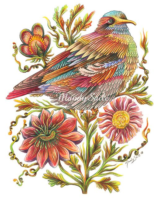 Creating Vivid and Happy Art Inspired by Rabbits and Chronic Pain: Feather Song