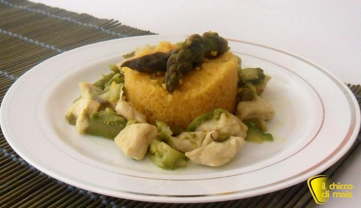 Couscous con pollo asparagi e zucchine ricetta piatto unico il chicco di mais