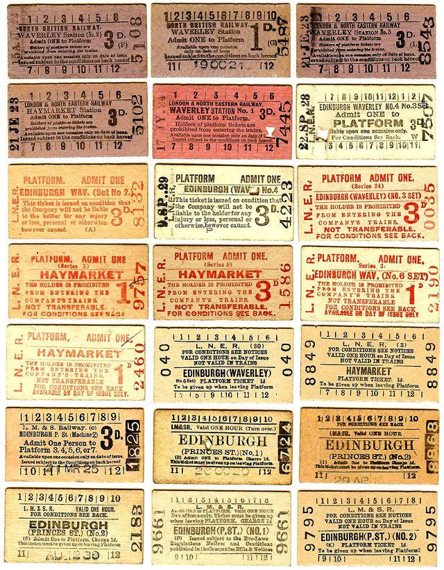 1920s train ticket - Google Search