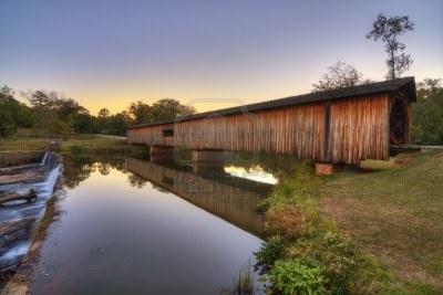 Watson Mill Bridge State Park in Comer, Georgia.