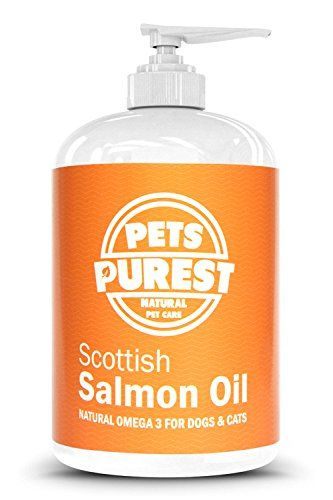From 16.95 Pets Purest - 1 Litre - 100% Natural Premium Food Grade Pure Scottish Salmon Oil. Omega 3 Supplement For Dogs Cats Horses & Pets. Promotes Coat Joint And Brain Health