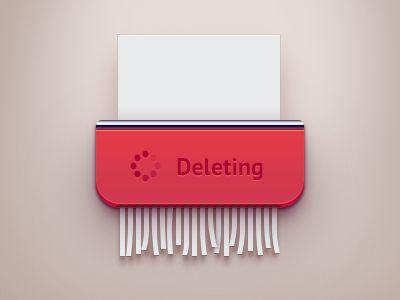 Just drag document to shredder for delete | #ui