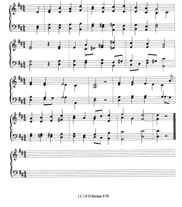 "My tune to the unusual metre of the hymn ""In Peace and Joy I Now Depart"" suitable for funerals."