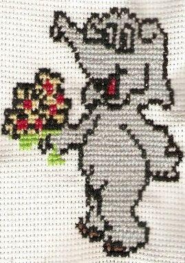 Slon s kyticí #embroidery