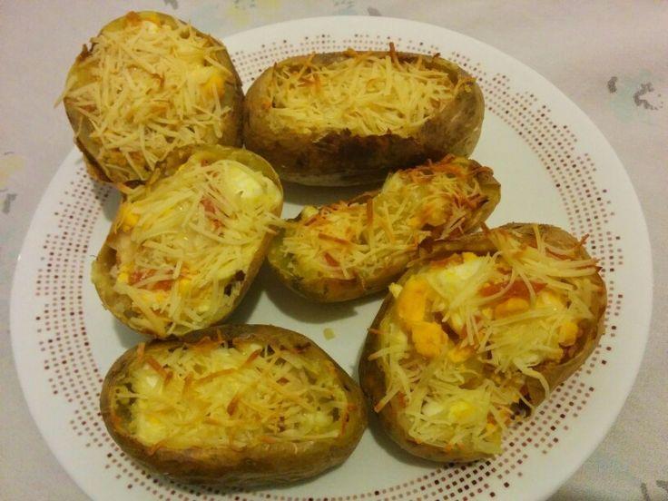 Patatas rellenas de jamon y queso