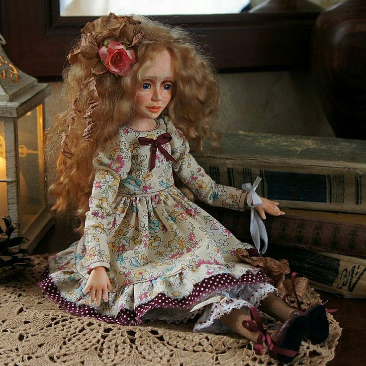 My new art doll Asya is available for adoption in my shop