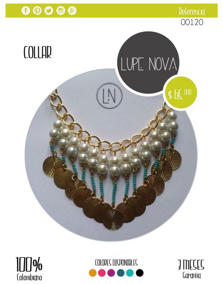 Collar disponible en Negro, Rojo, Rosa, Lila, Azul Rey, Azul Celeste y Verde. Envíos nacionales e internacionales. Síguenos en http://www.facebook.com/LUPEINOVA.  #collar #Bogotá #Colombia #colección #Negro #Rojo #Rosa #Lila #AzulRey #AzulCeleste #Verde#joyas #mujeres #tienda #tiendas #sígueme #collares #accesorios #instacompras #followme #instaventas #productocolombiano #altacalidad