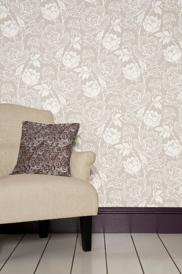 Peony By Farrow Ball White Taupe Wallpaper Bp 2302 Farrow Ball Wallpaper Peony Wallpaper Farrow Ball