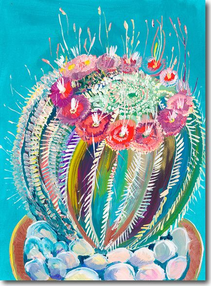 154 best cactus paintings 1 images on pinterest