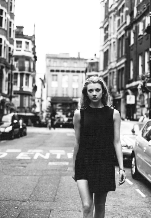 Natalie Dormer in a simple sheath