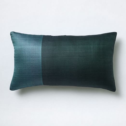 Sari Silk Pillow Cover - Garden Green | west elm
